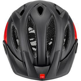 MET Crossover Casco, black/red